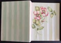 Canvas covered loose leaf binder