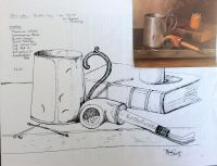 Pipe & Mug Still Life by Morene Schultz